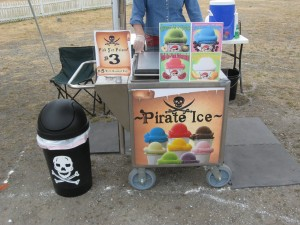 pirate italian ice cart