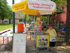 italian ice 8 year old businessman