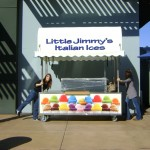 Setting up Little Jimmy's Italian Ice kiosk for the first time